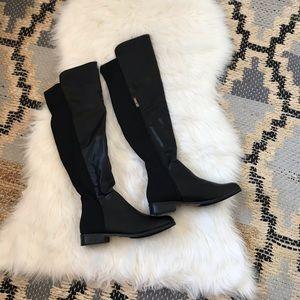 Catherine Malandrino vegan leather flat high boot